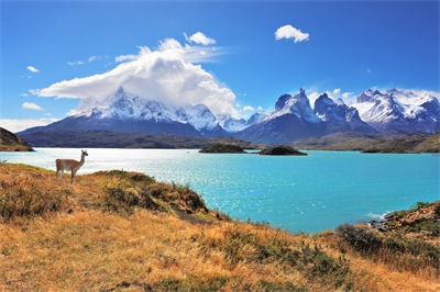 A lake in Torres del Paine National Park, Chile