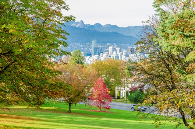 Vancouver-Autumn with Mountain View